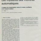 1968, Part 3: Les Mysteres des Montres Automatiques by P. Beguin Vintage 1968 Swiss Magazine Article