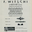 1951 F. Witschi Company La Chaux-de-Fonds Switzerland 1951 Swiss Ad Suisse Advert