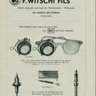 1957 F. Witschi Fils Watch Tools Company Switzerland 1957 Swiss Ad Suisse Advert Horology