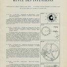 1958 Revue des Inventions Swiss Horology Patents Brevets Suisses Horlogerie Horology