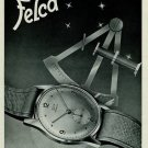 1951 Felca Watch Company Switzerland Vintage 1951 Swiss Ad Suisse Advert
