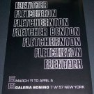 1969 Fletcher Benton Vintage 1969 Art Exhibition Ad Galeria Bonino, NY Advert