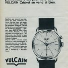 1964 Vulcain Watch Company Switzerland Vulcain Cricket Advert 1964 Swiss Ad Suisse Advert Horology