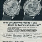 1964 Pronto Watch Company PolyDate SpeedDate Advert Vintage 1964 Swiss Ad Suisse Advert Horology