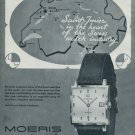 1964 Moeris Watch Company Saint-Imier Switzerland Vintage 1964 Swiss Ad Suisse Advert