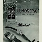 1951 Hy. Moser & Cie Watch Company Le Locle Switzerland Vintage 1951 Swiss Ad Suisse Advert