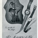 1951 Hy. Moser & Cie Watch Company Vintage 1951 Swiss Ad Suisse Advert Horlogerie Horology
