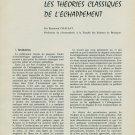 1959 Theories Classiques de l' Echappement by Raymond Chaleat 1959 Swiss Magazine Article Suisse