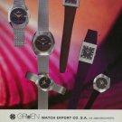 1976 Gruen Watch Company Neuchatel Switzerland 1976 Swiss Ad Suisse Advert Horlogerie Horology