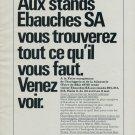 1976 Ebauches SA Neuchatel Switzerland Vintage 1976 Swiss Ad Suisse Advert Horlogerie Horology