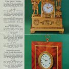 1976 Reuge Music Clock Company Sainte Criox Switzerland Vintage 1976 Swiss Ad Suisse Advert