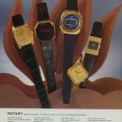 1976 Rotary Watch Company Switzerland Vintage 1976 Swiss Ad Suisse Advert Horlogerie Horology
