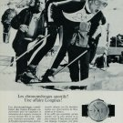 1967 Longines Watch Company Olympics Skiing Vintage 1967 Swiss Ad Suisse Advert Switzerland