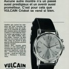 1967 Vulcain Watch Company Switzerland Vulcain Cricket Ad 1967 Swiss Ad Suisse Advert Horlogerie