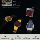 1976 SGT Invicta Elgin Societe des Garde-Temps SA 1976 Swiss Ad Suisse Advert Horlogerie Horology