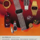 1976 Hilltron Watch Company Hilltron AG Switzerland 1976 Swiss Ad Suisse Advert Horlogerie Horology