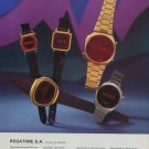 1976 Regatime Watch Company Le Sentier Switzerland 1976 Swiss Ad Suisse Advert Horlogerie Horology