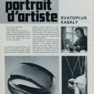 1976 Svatopluk Kasaly Portrait d'Artiste Jeweler 1976 Swiss Magazine Article