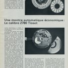 1976 Tissot Watch Company Calibre Tissot 2780 1976 Swiss Magazine Article Suisse
