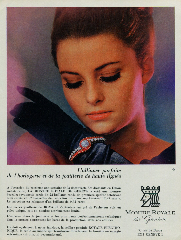 1967 Montre Royale de Geneve Watch Company 1967 Swiss Ad Suisse Advert Horology Horlogerie