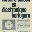 1965 Longines Watch Company Switzerland Vintage 1965 Swiss Ad Suisse Advert Horlogerie