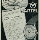 1957 Martel Watch Company Martel Victorious Vintage 1957 Swiss Ad Suisse Advert Horlogerie