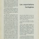 1958 Les Exportations Horlogeres Mars et Avril 1958 Swiss Magazine Article Horlogerie Horology