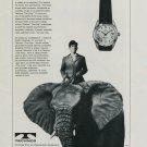 1964 Technos Watch Company The King Vintage 1964 Swiss Ad Suisse Advert Elephant Horlogerie Horology