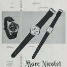 1964 Marc Nicolet Watch Company Switzerland Vintage 1964 Swiss Ad Suisse Advert Horlogerie Horology