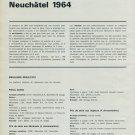 1964 Concours Chronometriques des Observatoires Suisses Swiss Magazine Article Horlogerie Horology