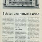 1965 Bulova Une Nouvelle Usine a Neuchatel 1965 Swiss Magazine Article Horlogerie Horology