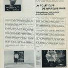 1965 Mondia Watch Company La Politique de Marque Paie Swiss Magazine Article Horlogerie Horology