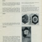 1965 Omega Watch Company Zodiac Hamilton Sandoz 1965 Swiss Magazine Clipping Horlogerie Horology