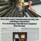 1976 Fairchild Watch Company Switzerland Vintage 1976 Swiss Ad Suisse Advert Horlogerie Horology