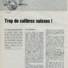 1963 Defossez Trop de Calibres Suisses 1963 Swiss Magazine Article Horlogerie Horology