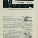 1958 Revue des Inventions Horology Patents Vintage 1958 Swiss Magazine Article Horlogerie Suisse