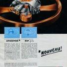 1962 Horology Horlogerie Parechoc Spirotot & KIF Flector Print Ad Advert Switzerland Swiss Suisse