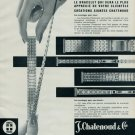 1962 J. Chatenoud & Cie Watch Band Company France 1962 Swiss Ad Suisse Advert Horology Horlogerie
