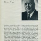 1962 Imhof Clock Company M. Arthur Imhof Fete 70 Ans 1962 Swiss Magazine Article Horlogerie Horology