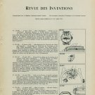 1957 Revue des Inventions Suisse Horlogerie Brevets Patents 1958 Swiss Magazine Article Horology