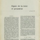 1958 Edmond Guyot - Figure de la Terre et Pesanteur Swiss Magazine Article