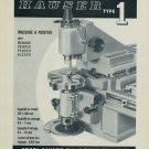 1958 Henri Hauser S.A. Bienne Switzerland Vintage 1958 Swiss Ad Suisse Advert Horlogerie Horology