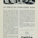 1953 Omega Watch Company Switzerland Vintage 1953 Swiss Ad Suisse Advert Horlogerie Horology