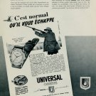 1953 Universal Watch Company Universal Geneve Switzerland Vintage 1953 Swiss Ad Suisse Advert