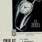 1953 Titus Watch Company Geneva Switzerland 1953 Swiss Ad Suisse Advert Paul Ditisheim SA