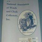 NAWCC #236 June 1985 National Watch & Clock Collectors Bulletin Horology Horlogerie