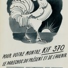 1953 Parechoc SA KIF 370 Advert Vintage 1953 Swiss Ad Suisse Advert Horlogerie Horology Switzerland