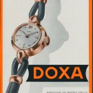 1953 Doxa Watch Company Switzerland Vintage 1953 Swiss Ad Suisse Advert Horology Horlogerie