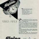 1953 Alpina Watch Company 70th Anniversary Vintage 1953 Swiss Ad Suisse Advert Horlogerie Horology