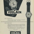 1953 Vulcain Watch Company Switzerland Vulcain Cricket Ad Vintage 1953 Swiss Ad Suisse Advert